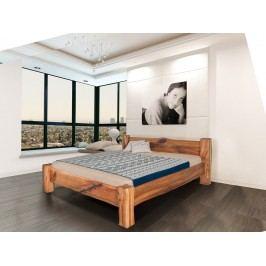 Masivní designová postel DANTE z jilmového dřeva