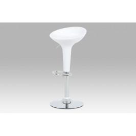 Barová židle bílý plast / chrom