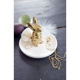 Dekorace zlatý zajíc