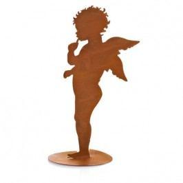 Plechový anděl silueta