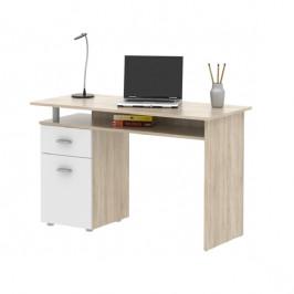 Psací stůl PL20 - sonoma/bílá