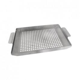Plech grilovací nerez děrovaný 38,5x22,5x3 cm