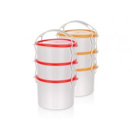 BANQUET Jídlonosič plastový APETIT, 3 díly