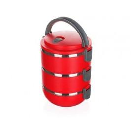BANQUET Jídlonosič plastový CULINARIA Red 2,1l, 3 díly
