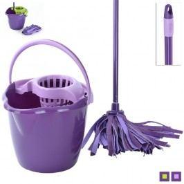 Mop s vědrem 12 L fialový