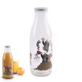 Láhev skleněná na mléko KRTEK 1L