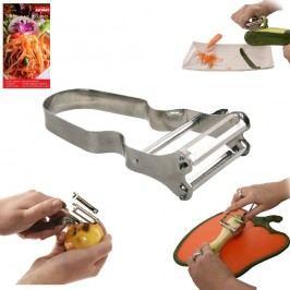 Škrabka kuchyňská nerezová s kráječem