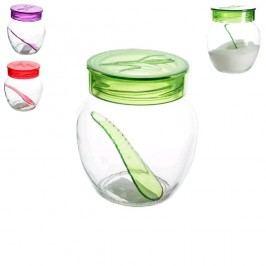 Cukřenka skleněná s plastovým víčkem