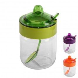 Cukřenka skleněná s plastovým víčkem 0,2 L