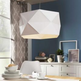 Designové závěsné svítidlo POLYGON bílé Brilliant 31970/35 4004353251016