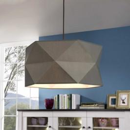 Závěsné designové svítidlo POLYGON šedé Brilliant 31970/63 4004353251009