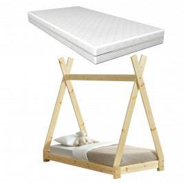 [en.casa]® Dětská postel AAKB - 8671 s matrací