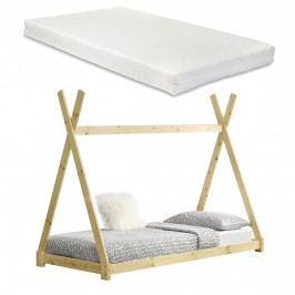 [en.casa]® Dětská postel s matrací AAKB-8675 + HKSM