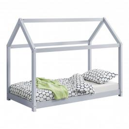 [en.casa] Dětská postel AAKB-8709 světle šedá 70x140 cm