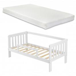[en.casa] Dětská postel SELFOSS AAKB-8729 90x200 cm bílá s matrací