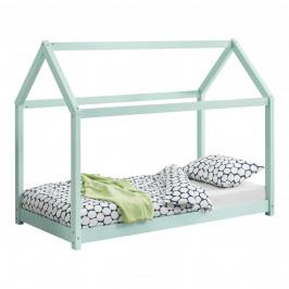 [en.casa] Dětská postel AAKB-8710 mátově zelená 80x160 cm