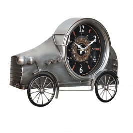 Nástěnné hodiny ve tvaru Oldtimeru - analogové - 37 x 8 x 25 cm - barevné – sklo