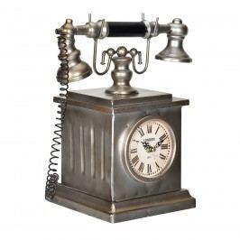 Stolní hodiny ve tvaru starého telefonu - analogové - 35 x 19 x 33 cm - barevné