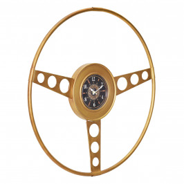 Nástěnné hodiny Oldtimer volant - analogové - 68 x 5,5 x 68 cm - barevné
