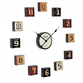 Nástěnné hodiny - vícedílne – analogové - barevné – 68 x 4 x 68 cm
