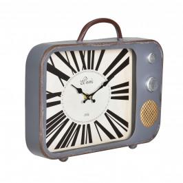 Nástěnné hodiny stará televize - analogové - 33 x 5 x 27 cm - barevné – sklo