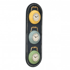 Nástěnné hodiny ve tvaru semaforu - analogové - 25 x 4,5 x 80 cm - barevné