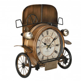 Nástěnné hodiny Oldtimer automobil - analogové - 33 x 13 x 36 cm - barevné - sklo