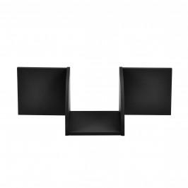 Designová police na zeď - černá