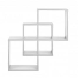 Designová police na zeď - bílá
