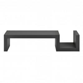 Designová police na zeď - tmavě šedá