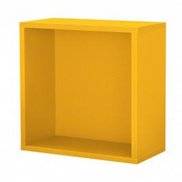 Variabilní designový systém - skříňky / poličky - 30x30x15 cm - hořčicově žluté