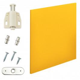 Variabilní designový systém - dvířka - 42x42 cm - hořčicově žluté