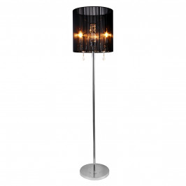Elegantní stojací lampa - Fabrica 3 x E 14 – 42W - chromová / černá
