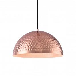 Dekoratívní designové závěsné svítidlo / stropní svítidlo - měděné–bílé (1 x E27)