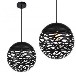 Dekoratívní designové závěsné svítidlo / stropní svítidlo - černé (1 x E27)