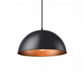 Dekoratívní designové závěsné svítidlo / stropní svítidlo - černá / měď (1 x E27)