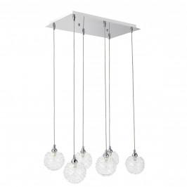 Dekoratívní designové závěsné svítidlo / stropní svítidlo - chromovo-stříbrné (6 x G9)