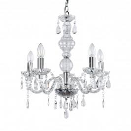 Elegantní lustr – pětiramenné stropní svítidlo – 5 x E14 - chromový