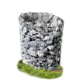 Gabion - kamenné koš ve tvaru vajíčka,šedá / stříbrná,