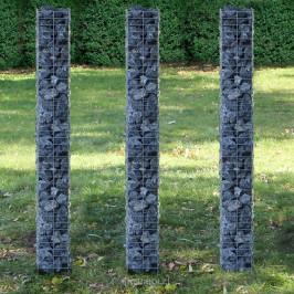 Gabion - kamenný koše 3 ks,šedá / stříbrná