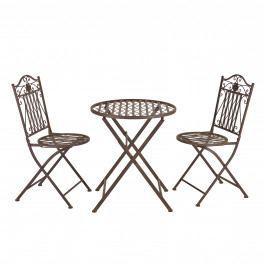 Bistro Set - kulatý stůl s 2 židlem,89 x 65 x 40 cm,46 cm,hnedá