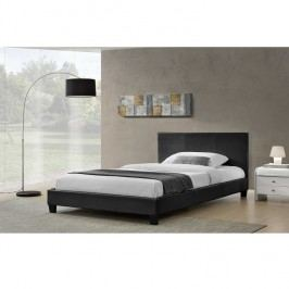 Manželská postel, černá, 180x200, NADIRA