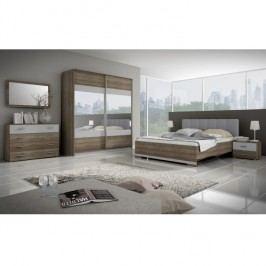 Ložnicová sestava nábytku, dub sonoma trufel / šedá, MADISON NEW