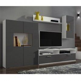 Obývací stěna, bílá / šedá, FEITH