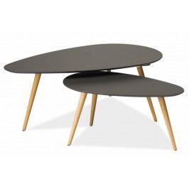 Konferenční stolky- komplet NOLAN B šedý