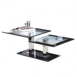 Konferenční stolek, ocel/sklo, GABRIEL