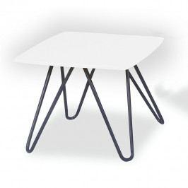 Konferenční stolek, bílá vysoký lesk / černá, KANER 1