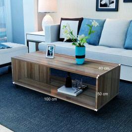 Konferenční stolek, dřevo světlý ořech, SIENA