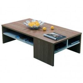 Konferenční stolek, ořech / bílá, VIENNA