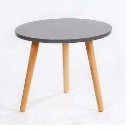 Příruční stolek, šedá / natural, BAZZY 3